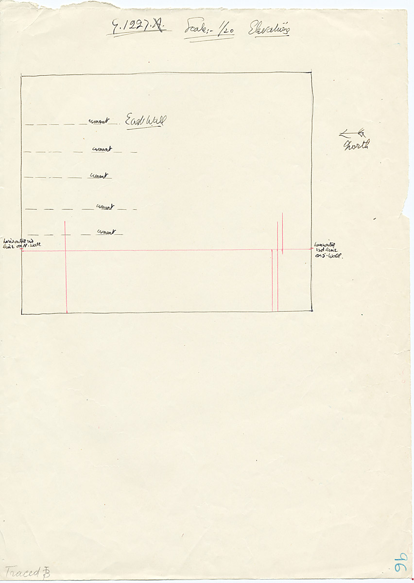 Maps and plans: G 1227, Shaft A, wall elevation (east)