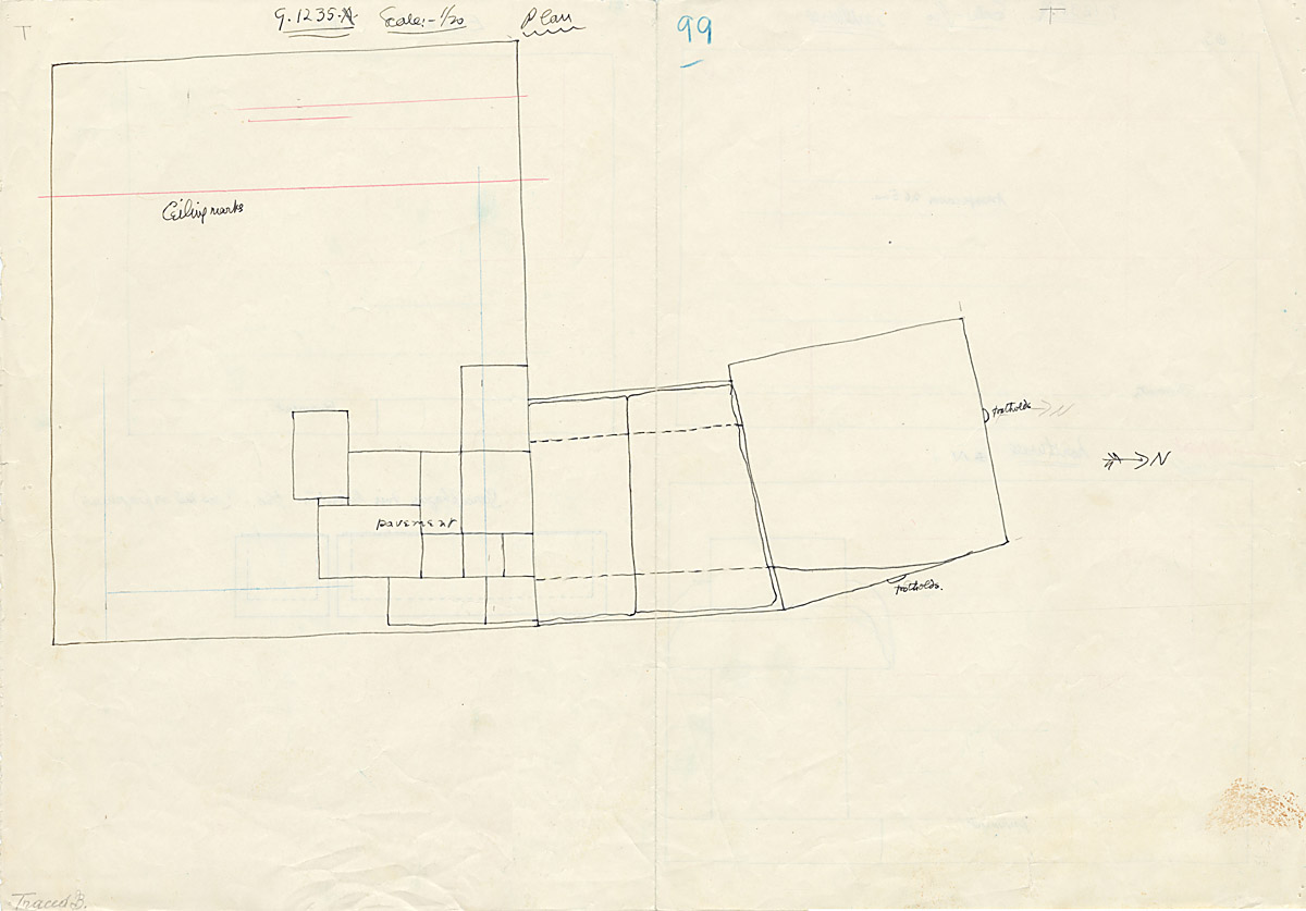 Maps and plans: G 1235, Shaft A, plan