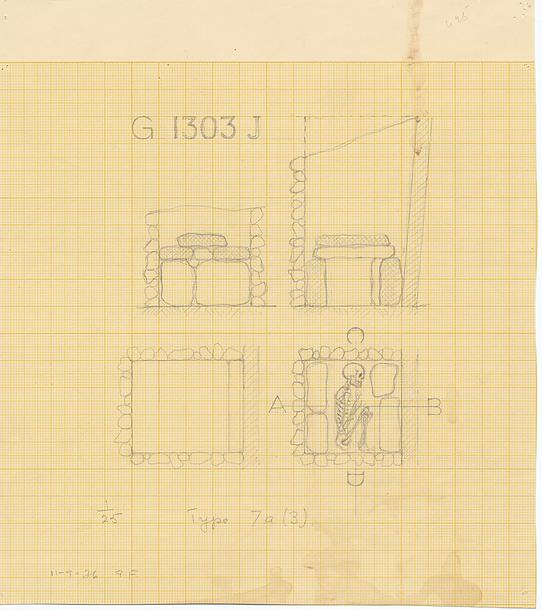Maps and plans: G 1303, Shaft J