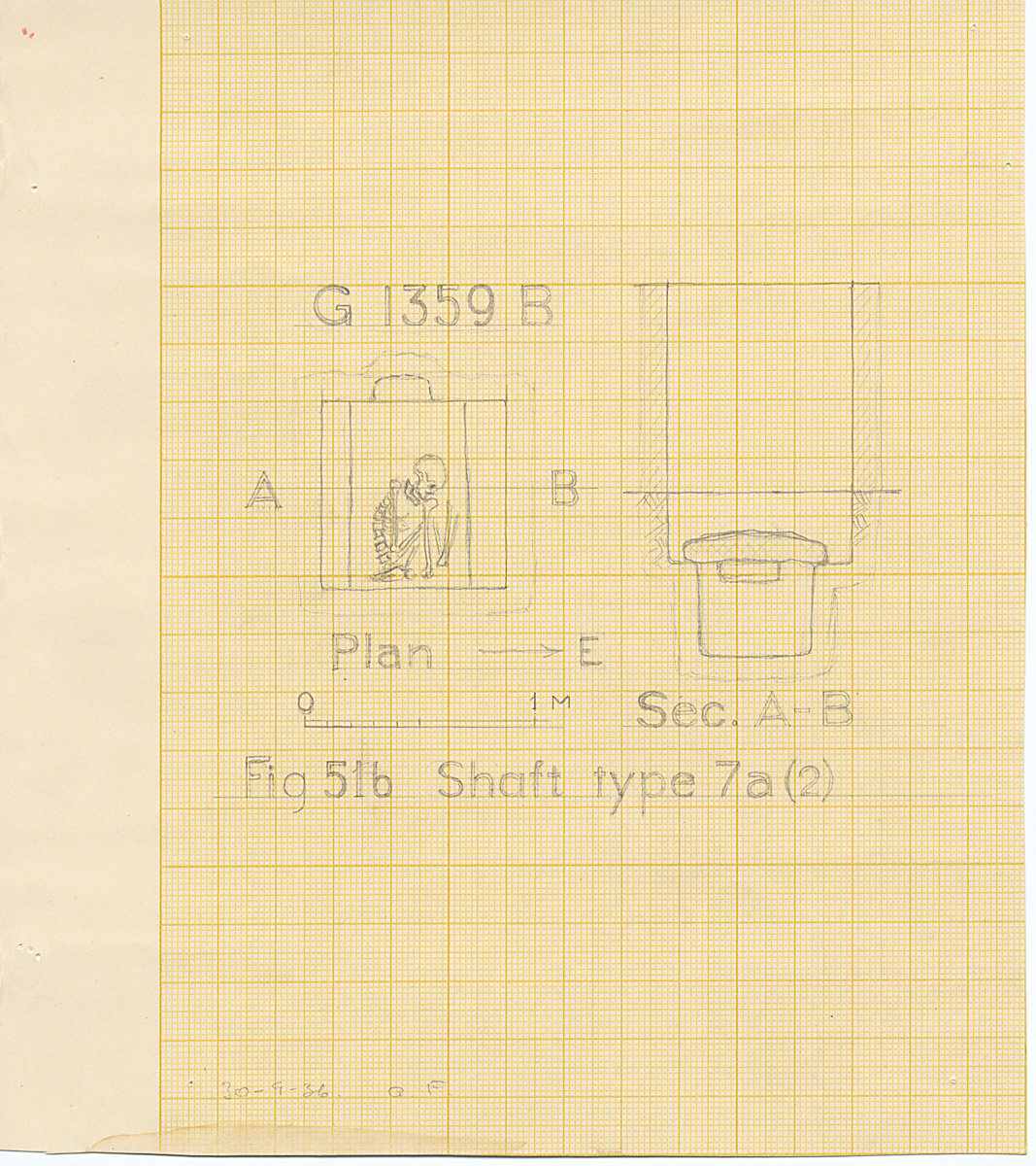Maps and plans: G 1359, Shaft B