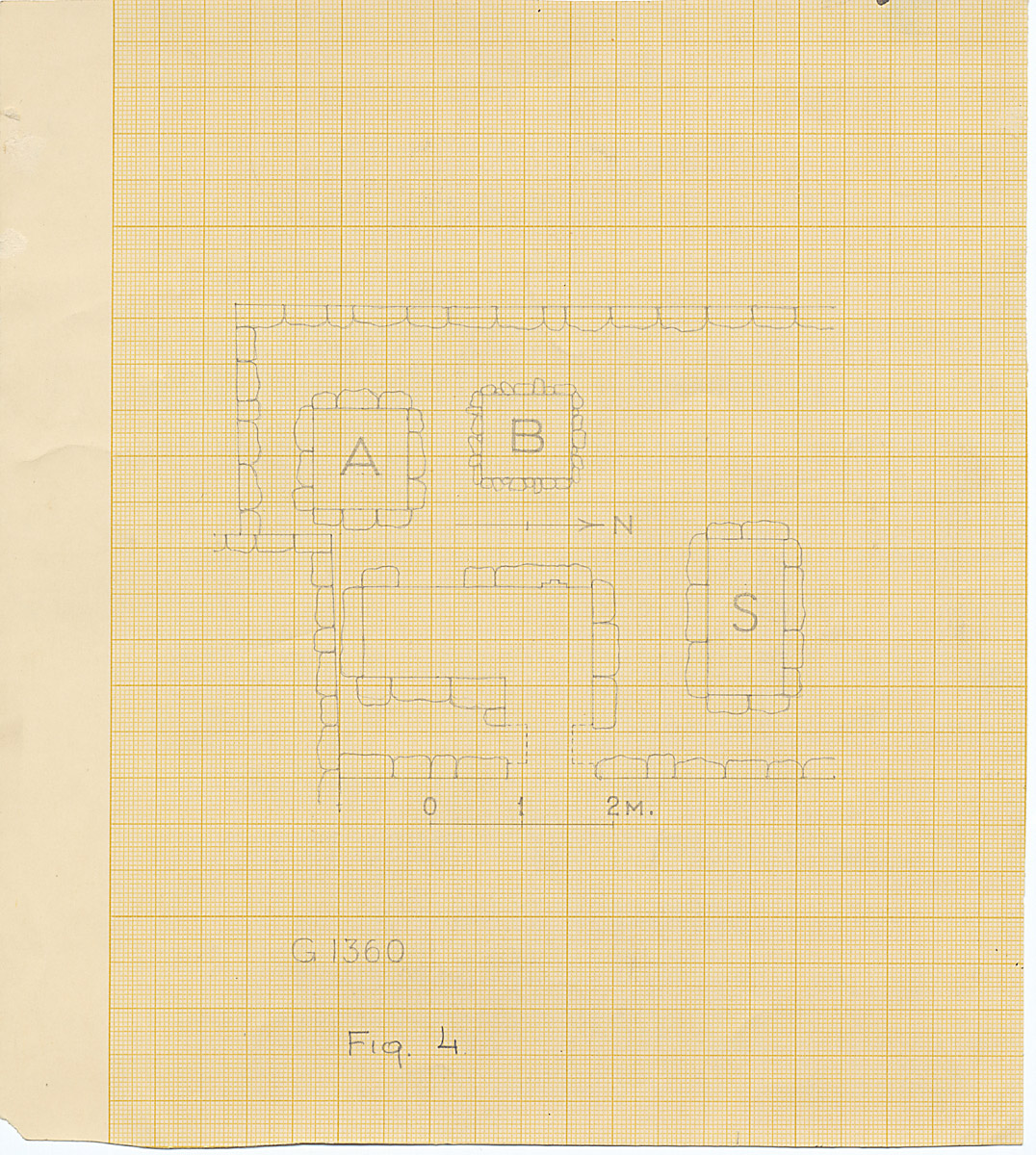 Maps and plans: G 1360, Plan of chapel area