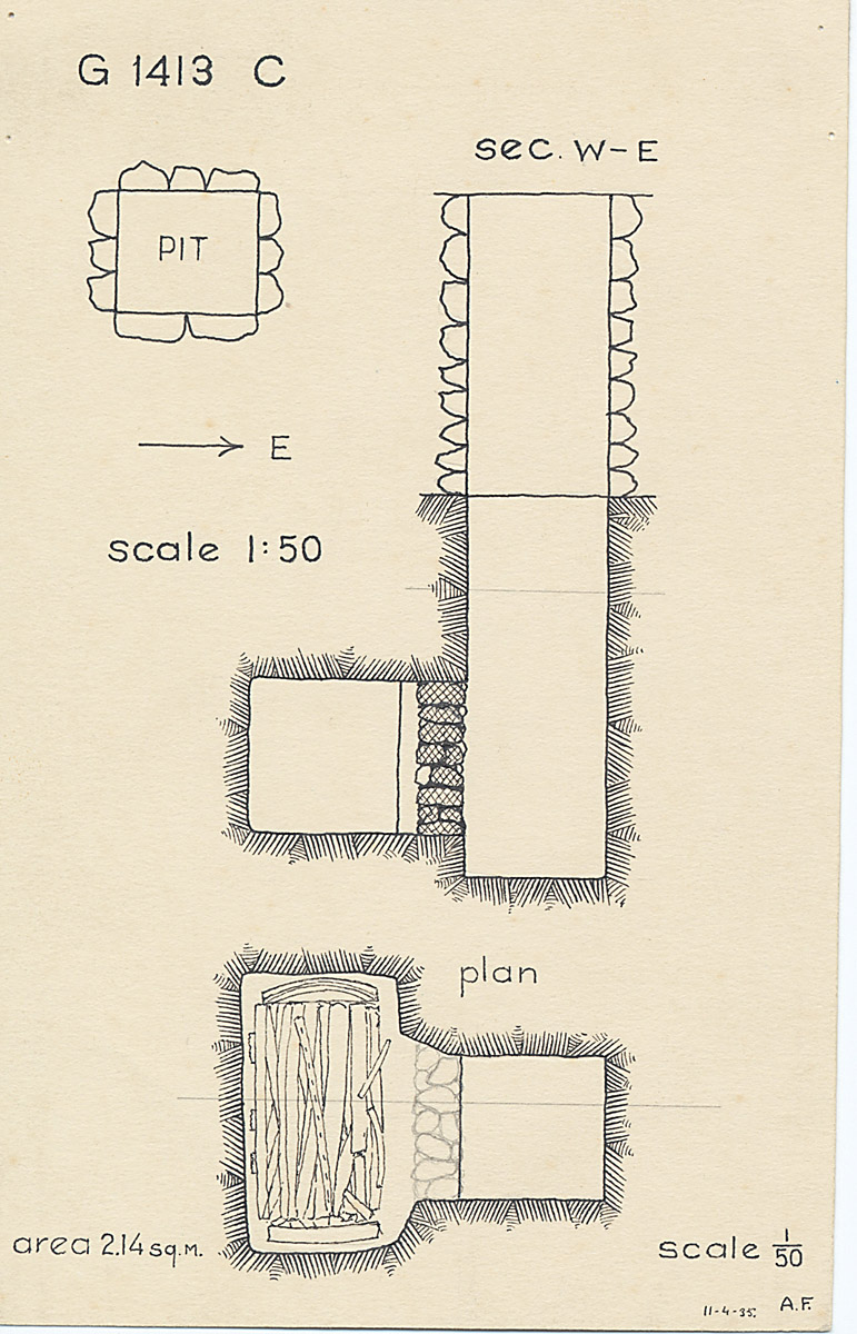 Maps and plans: G 1413, Shaft C