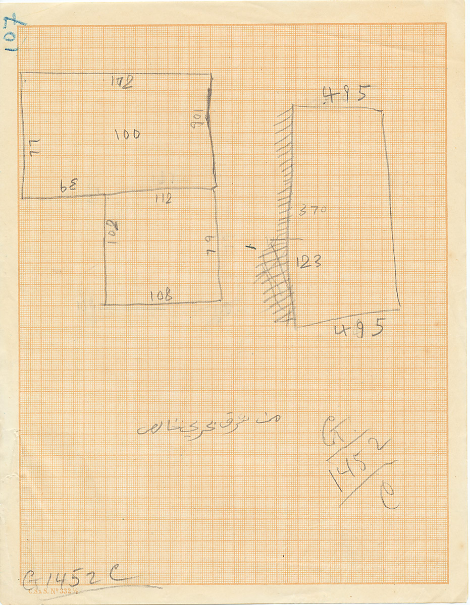 Maps and plans: G 1452+1453: G 1452, Shaft C