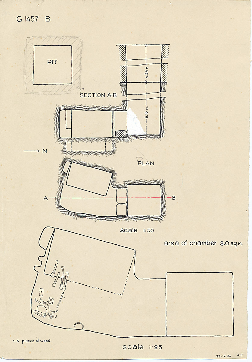 Maps and plans: G 1457, Shaft B