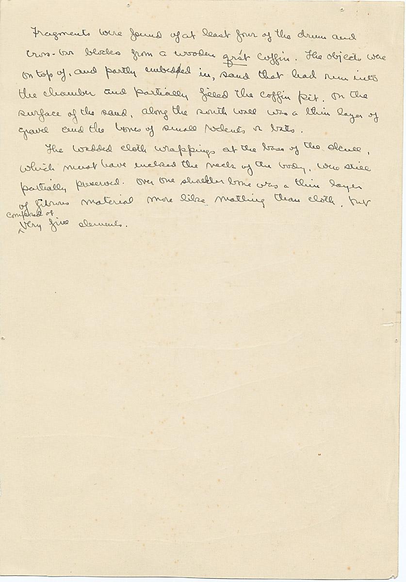 Notes: G 1457, Shaft B, notes