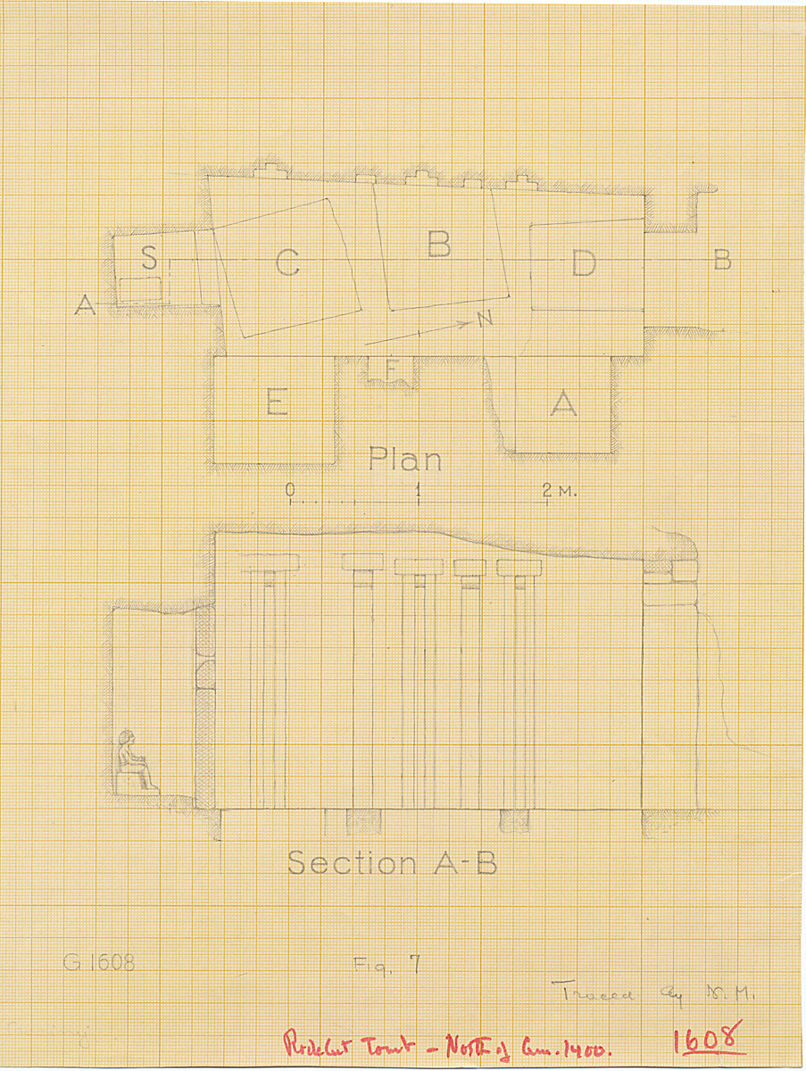 Maps and plans: G 1608, Plan and section