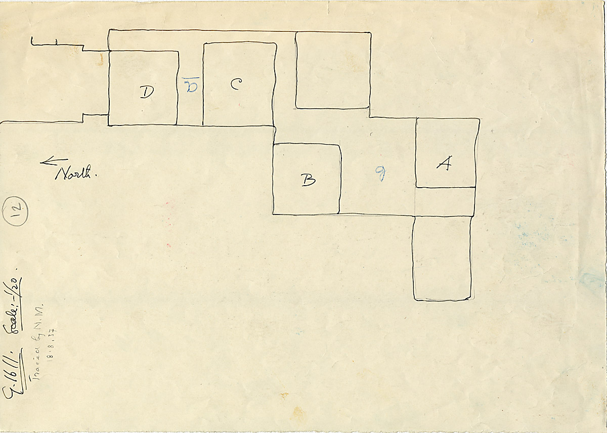 Maps and plans: G 1611, Plan of shafts A, B, C, D