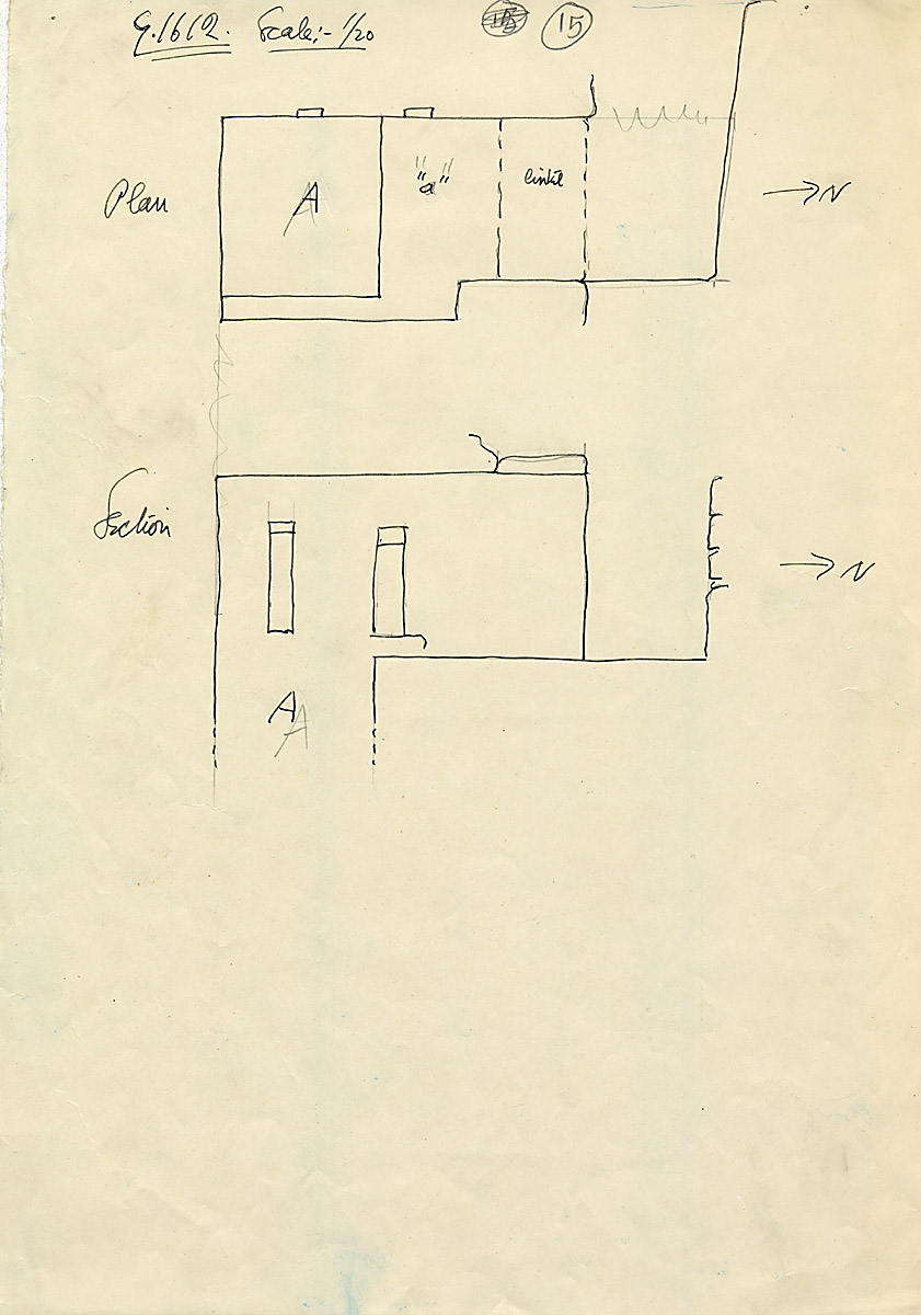Maps and plans: G 1612, Chapel, with shaft A