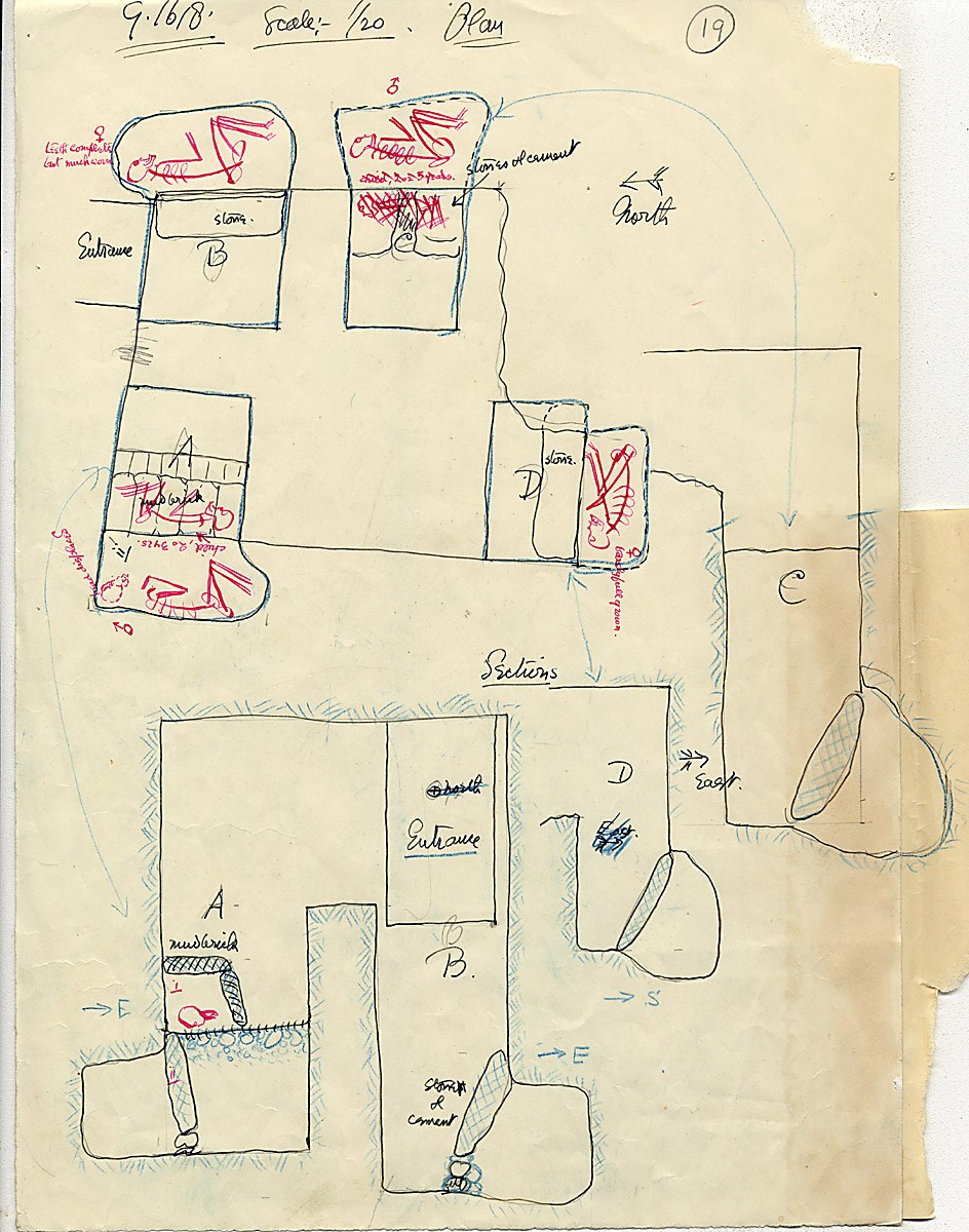 Maps and plans: G 1618, Shaft A, B, C, D