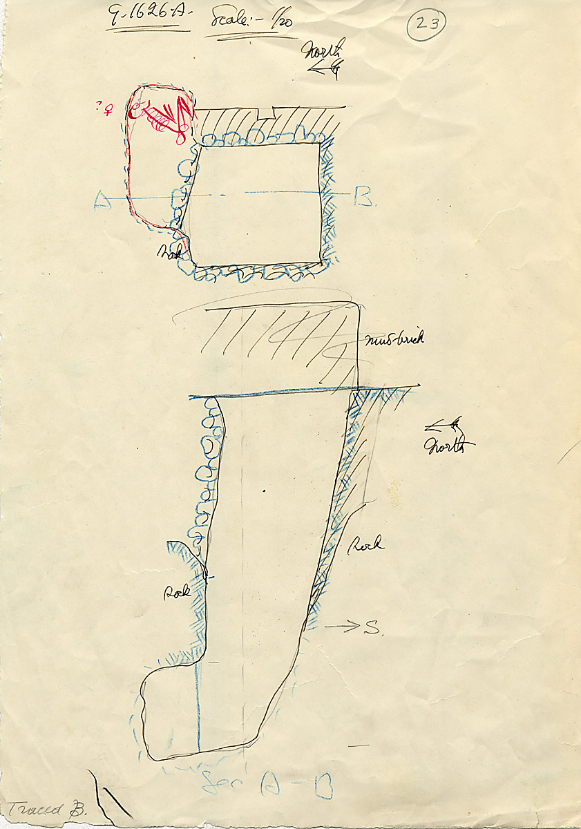 Maps and plans: G 1626, Shaft A