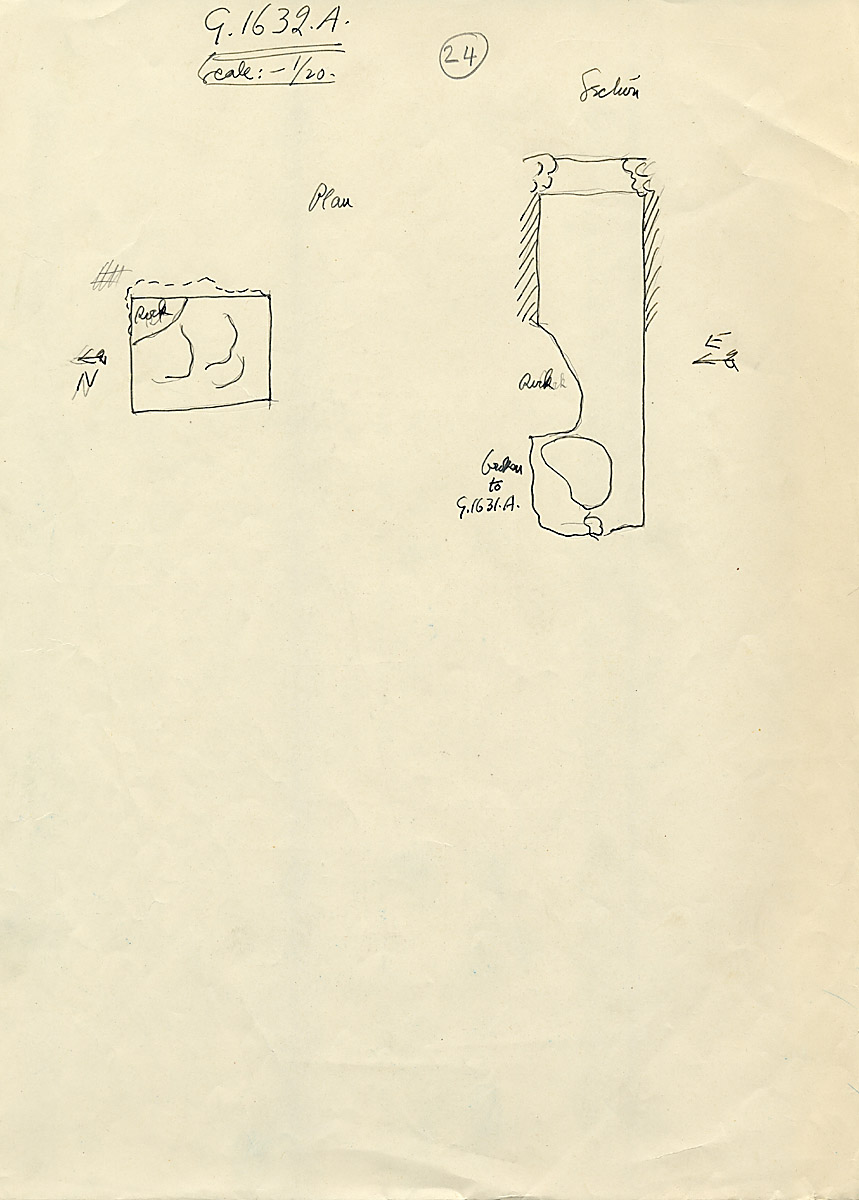 Maps and plans: G 1632, Shaft A