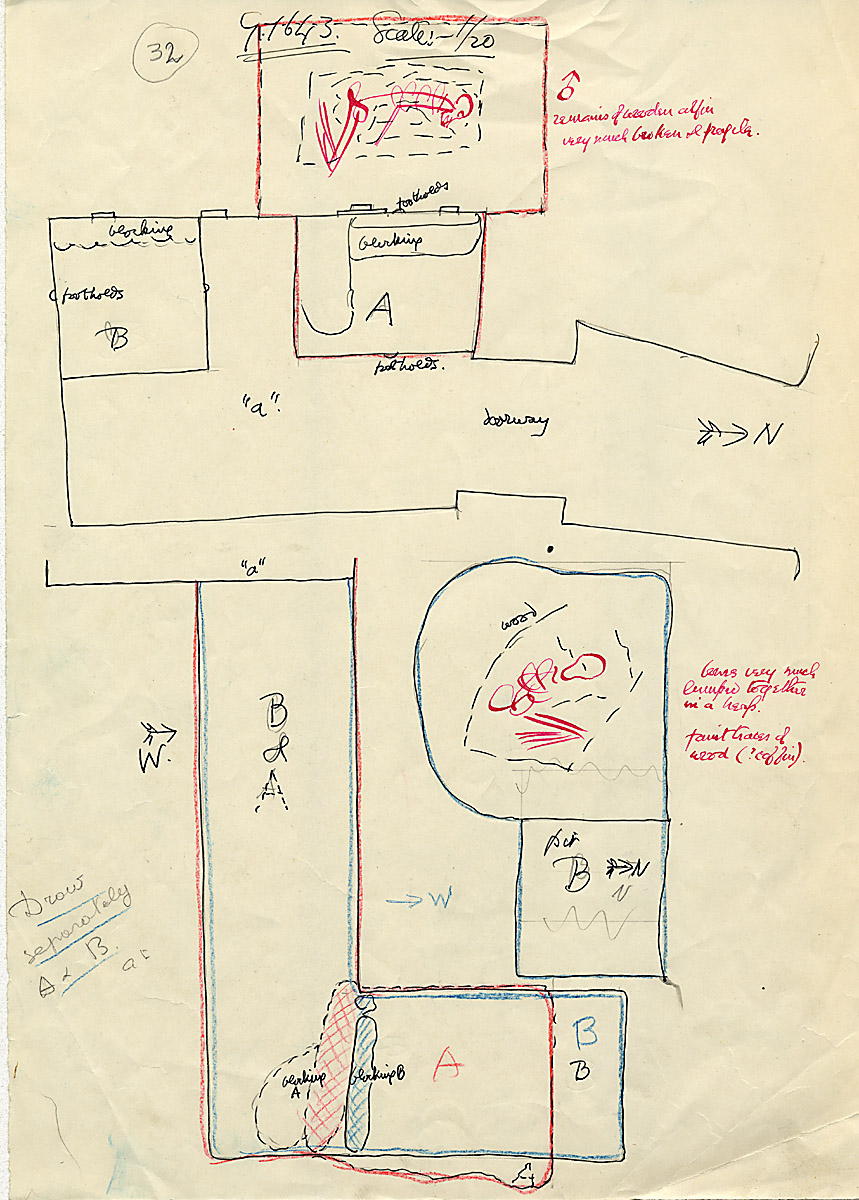Maps and plans: G 1643, Shaft A and B