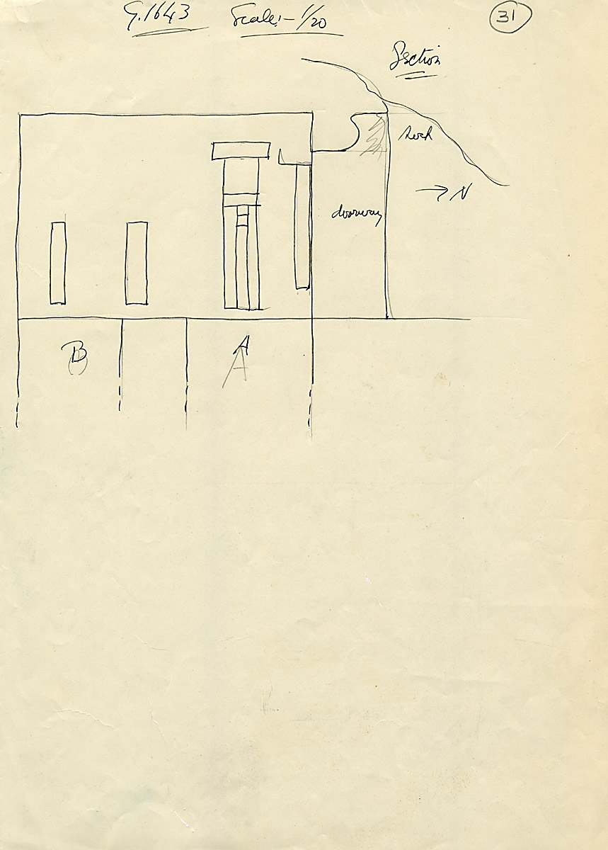 Maps and plans: G 1643, Chapel, with shafts A and B