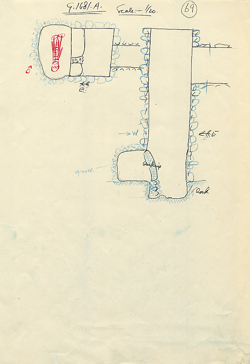 Maps and plans: G 1681, Shaft A