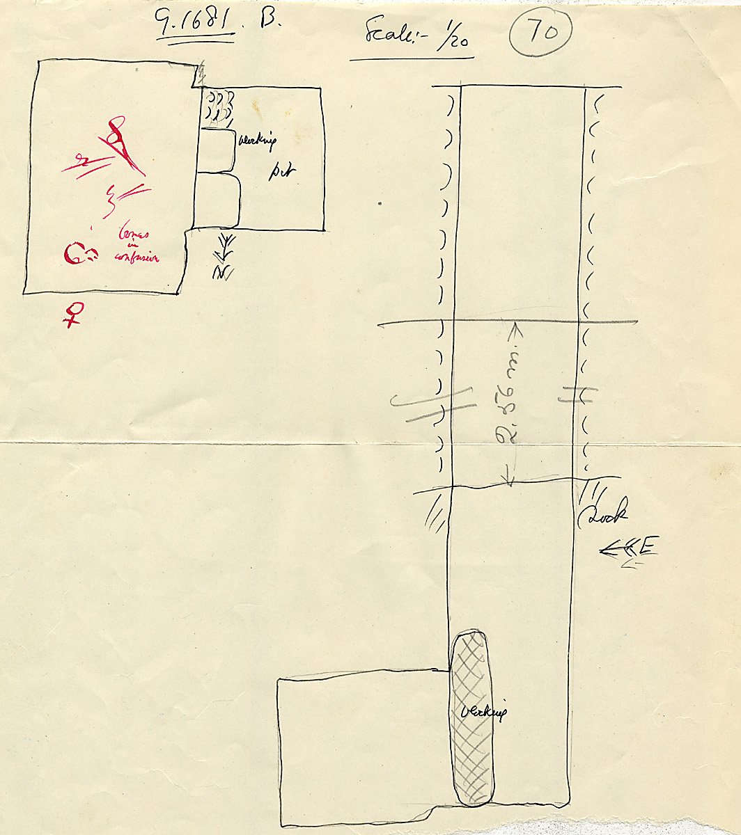 Maps and plans: G 1681, Shaft B