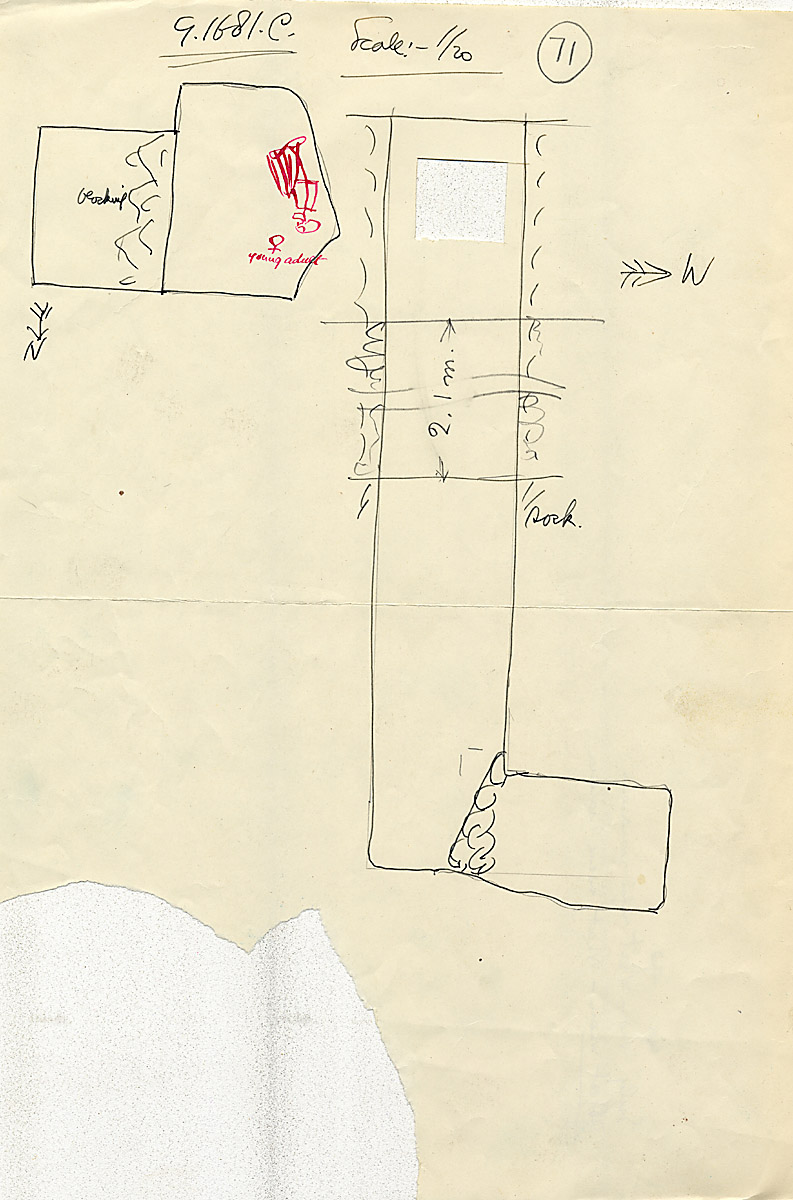 Maps and plans: G 1681, Shaft C