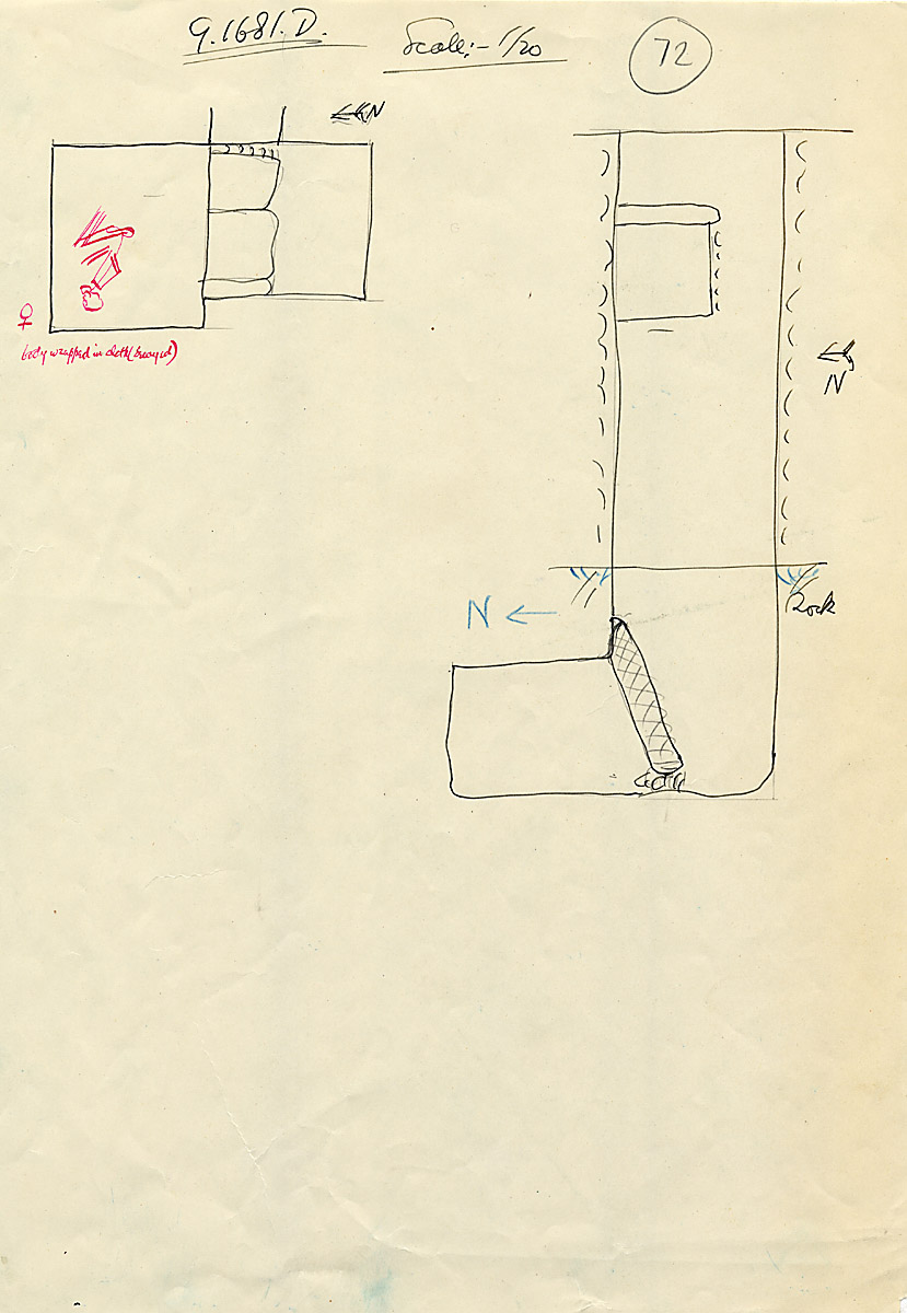 Maps and plans: G 1681, Shaft D