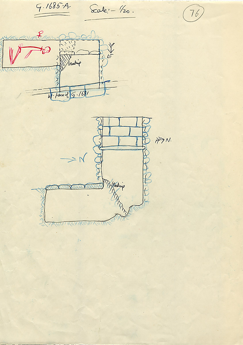 Maps and plans: G 1685, Shaft A