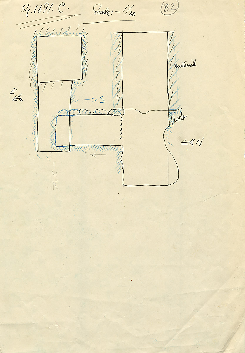Maps and plans: G 1691, Shaft C