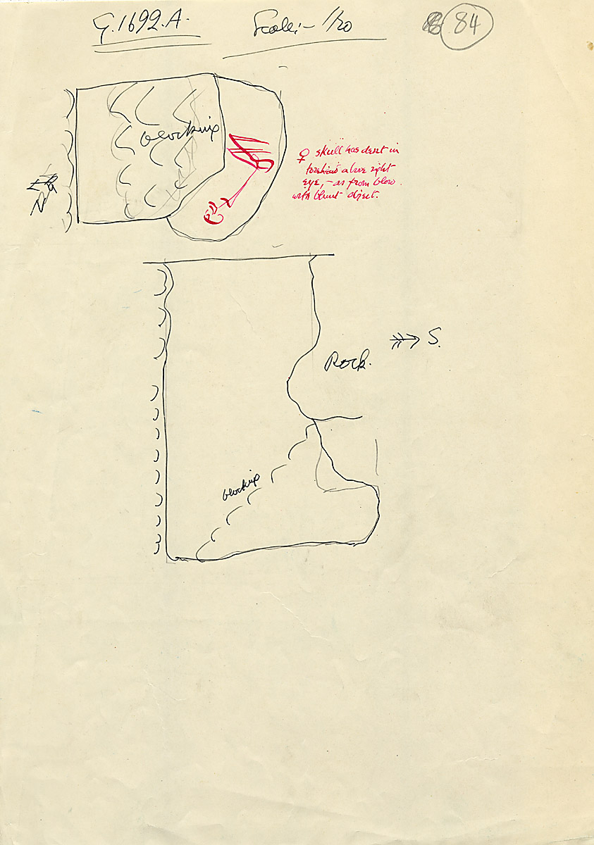 Maps and plans: G 1692, Shaft A