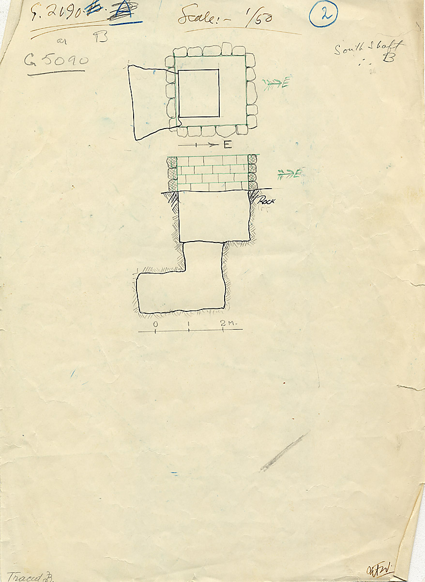 Maps and plans: G 2190 = G 5090, Shaft B