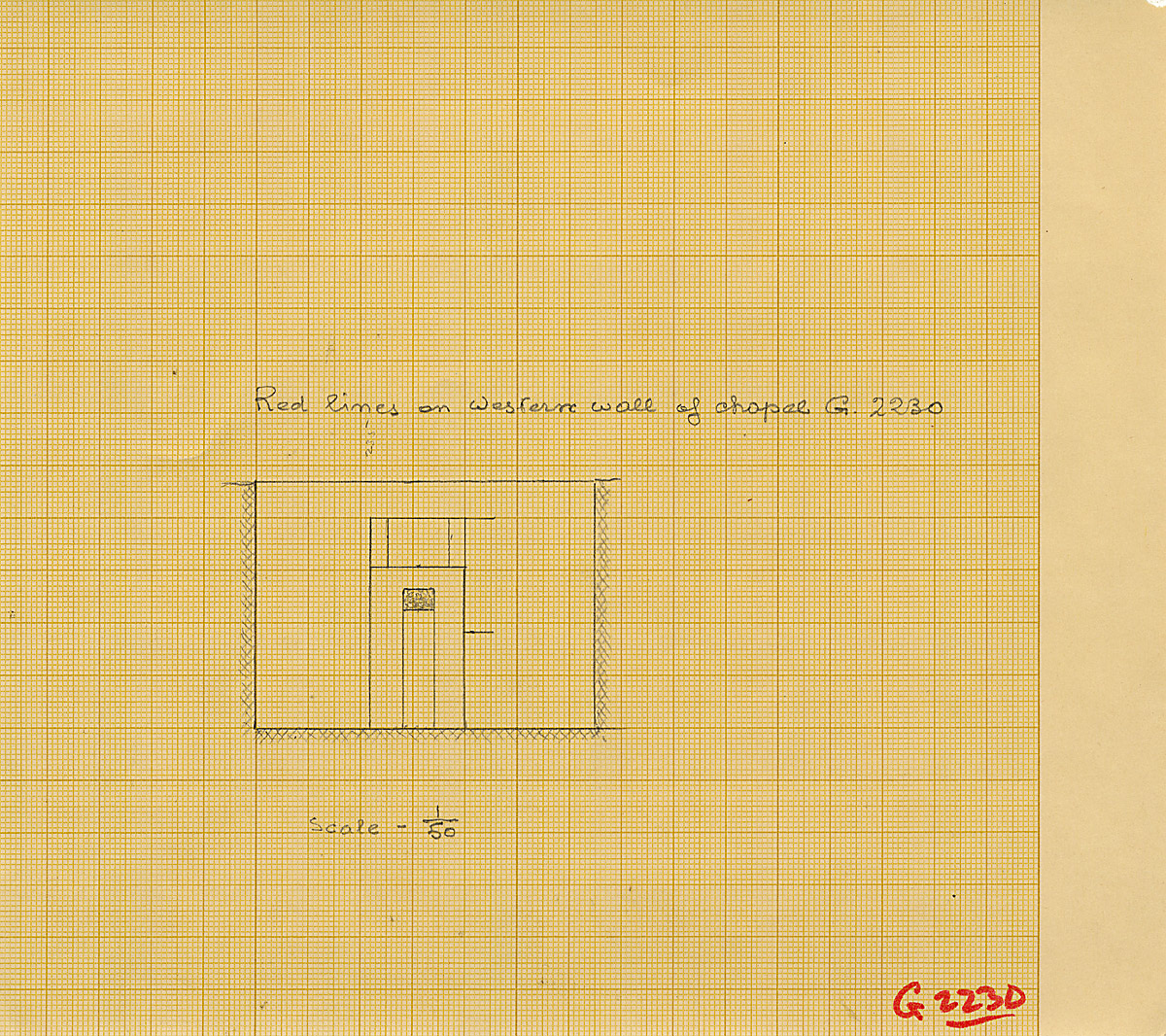 Maps and plans: G 2230+2231: G 2230, Elevation of false door