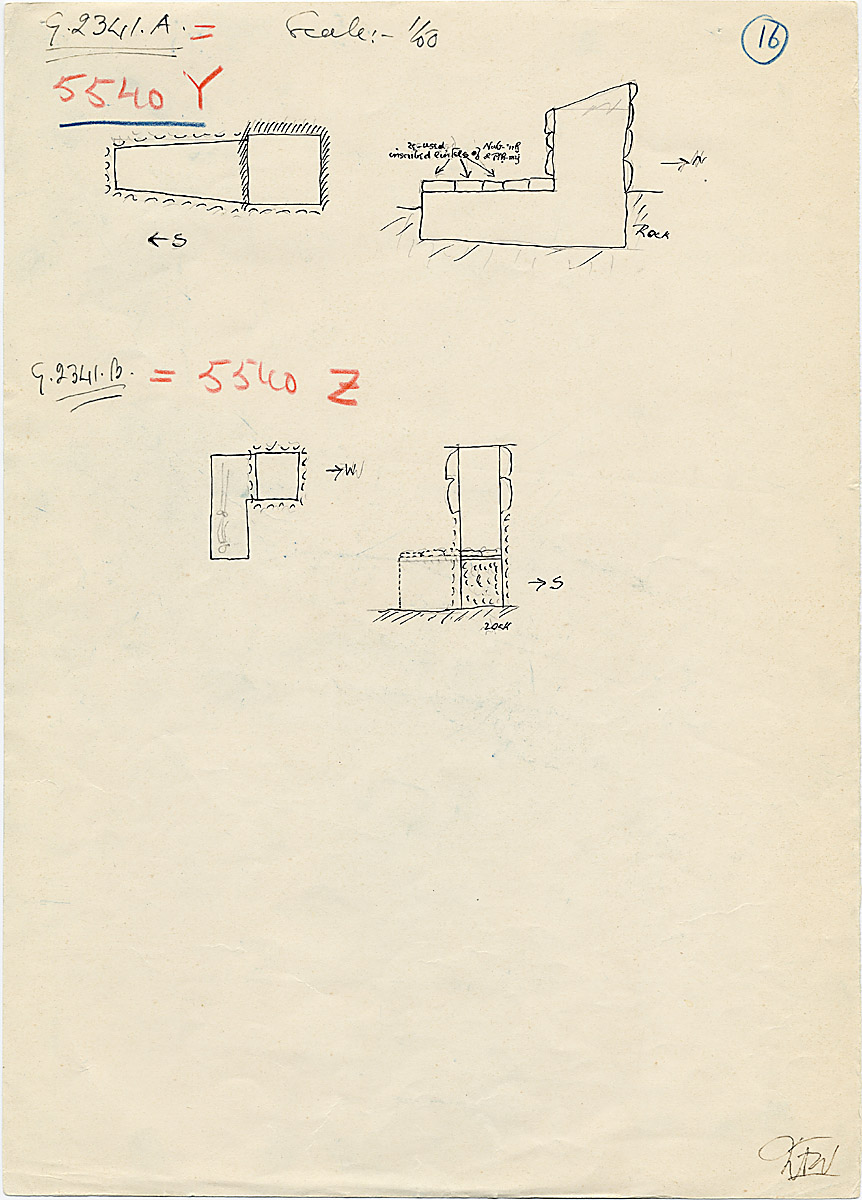 Maps and plans: G 2341 A = G 5540, Shaft Y; G 2341 B = G 5540, Shaft Z