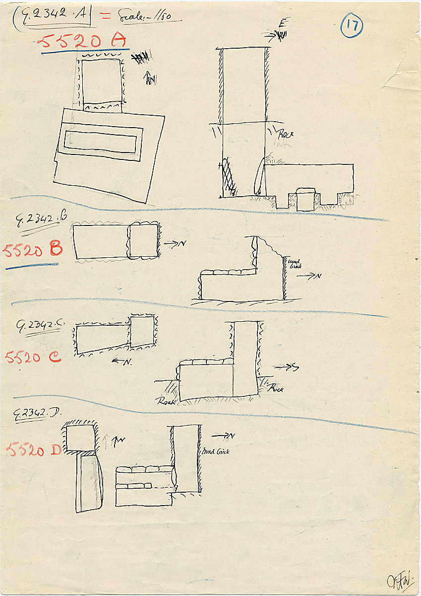 Maps and plans: G 2342 A, B, C, D = G 5520, Shaft A, B, C, D