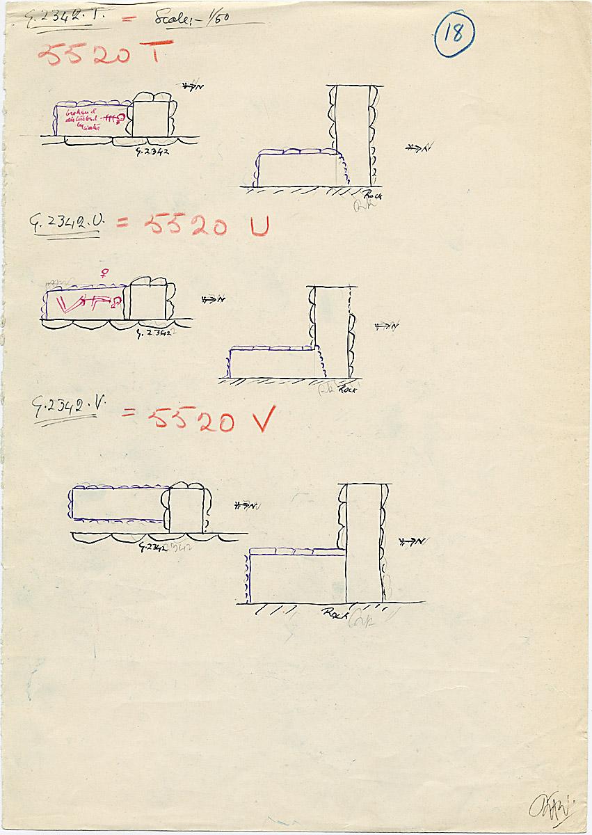 Maps and plans: G 2342 T, U, V = G 5520, Shaft T, U, V