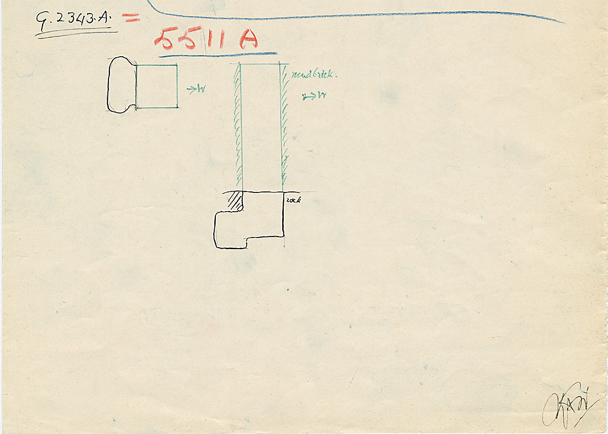 Maps and plans: G 2343 = G 5511, Shaft A