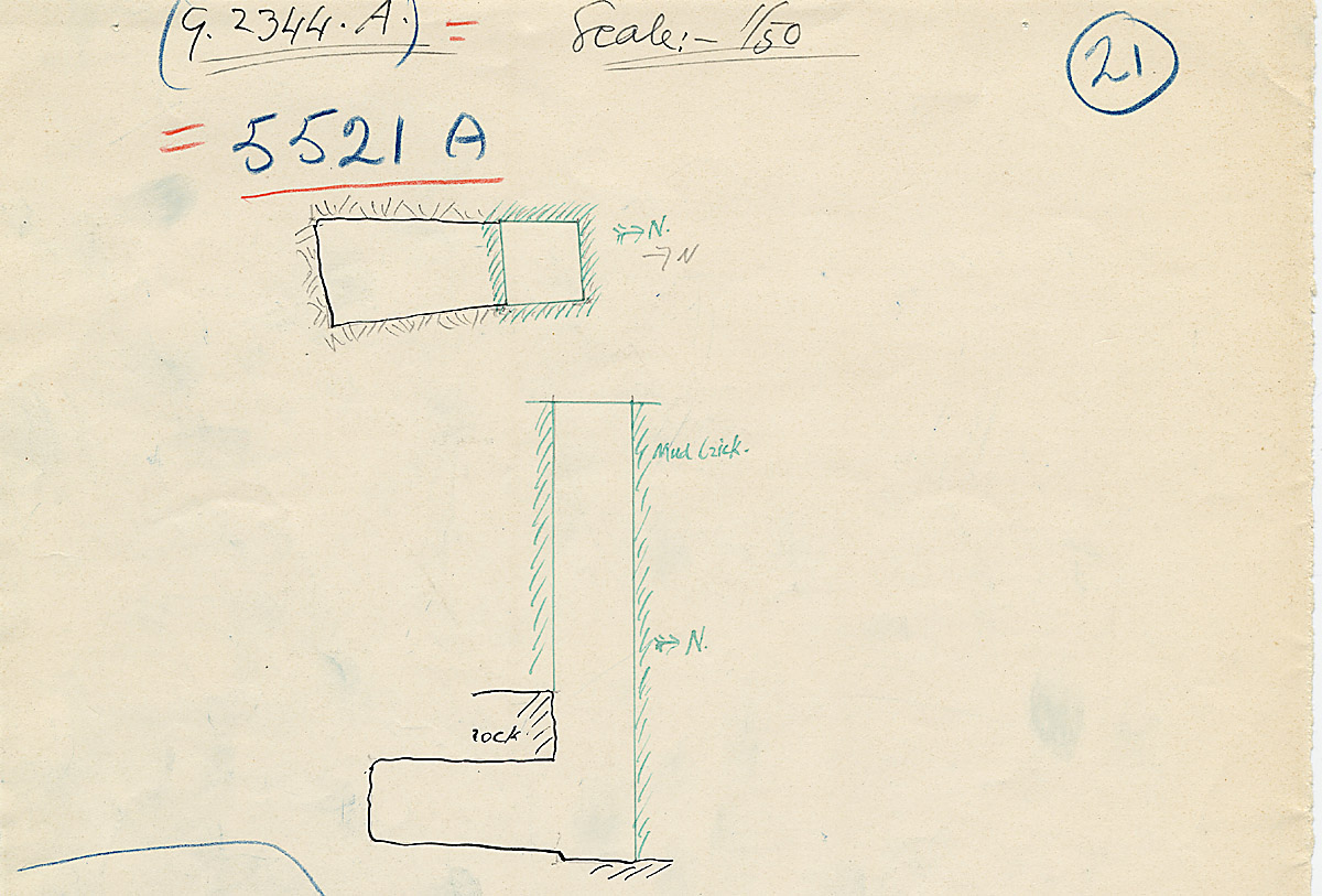Maps and plans: G 2344 = G 5521, Shaft A
