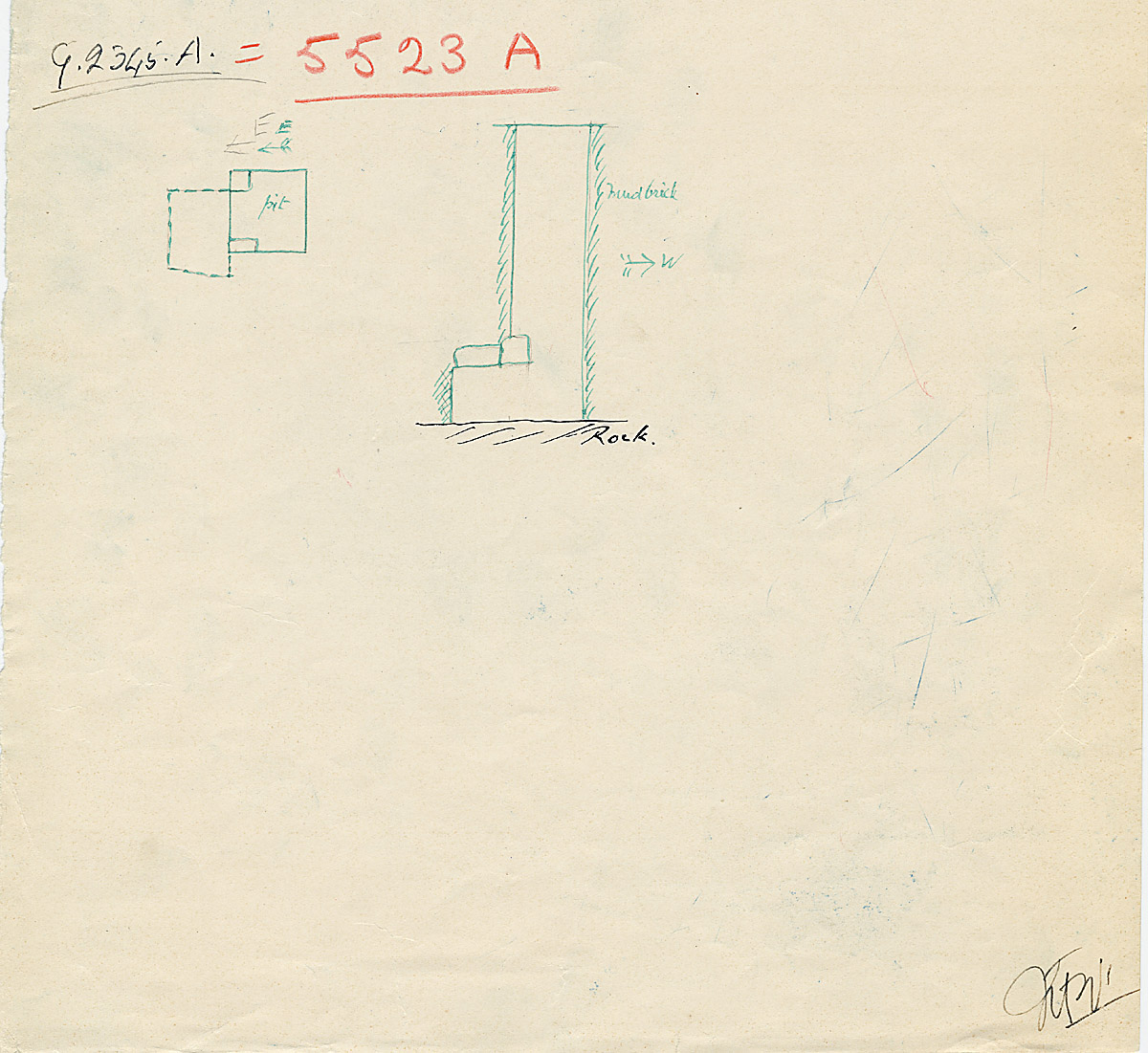 Maps and plans: G 2345 = G 5523, Shaft A