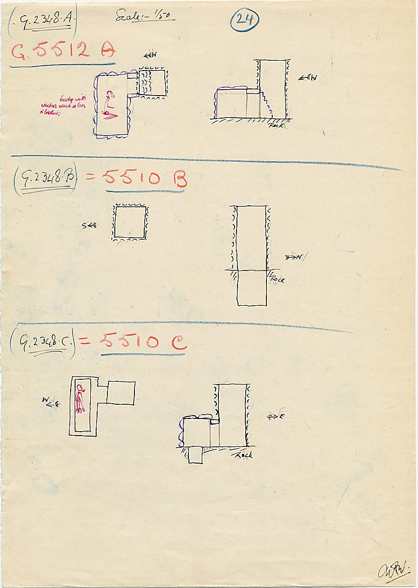 Maps and plans: G 2348 A = G 5512, Shaft A; G 2348 B = G 5510, Shaft B, G 2348 C = G 5510, Shaft C