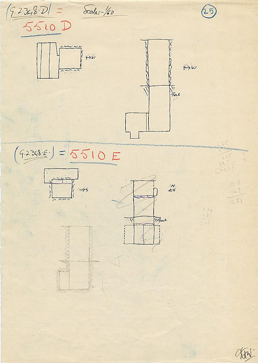 Maps and plans: G 2348 D = G 5510, Shaft D; G 2348 E = G 5510, Shaft E