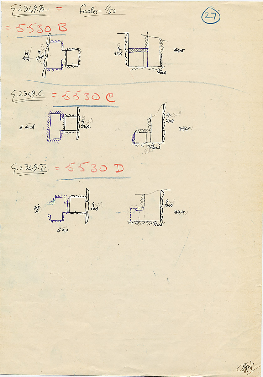 Maps and plans: G 2349 = G 5530, Shaft B, C, D