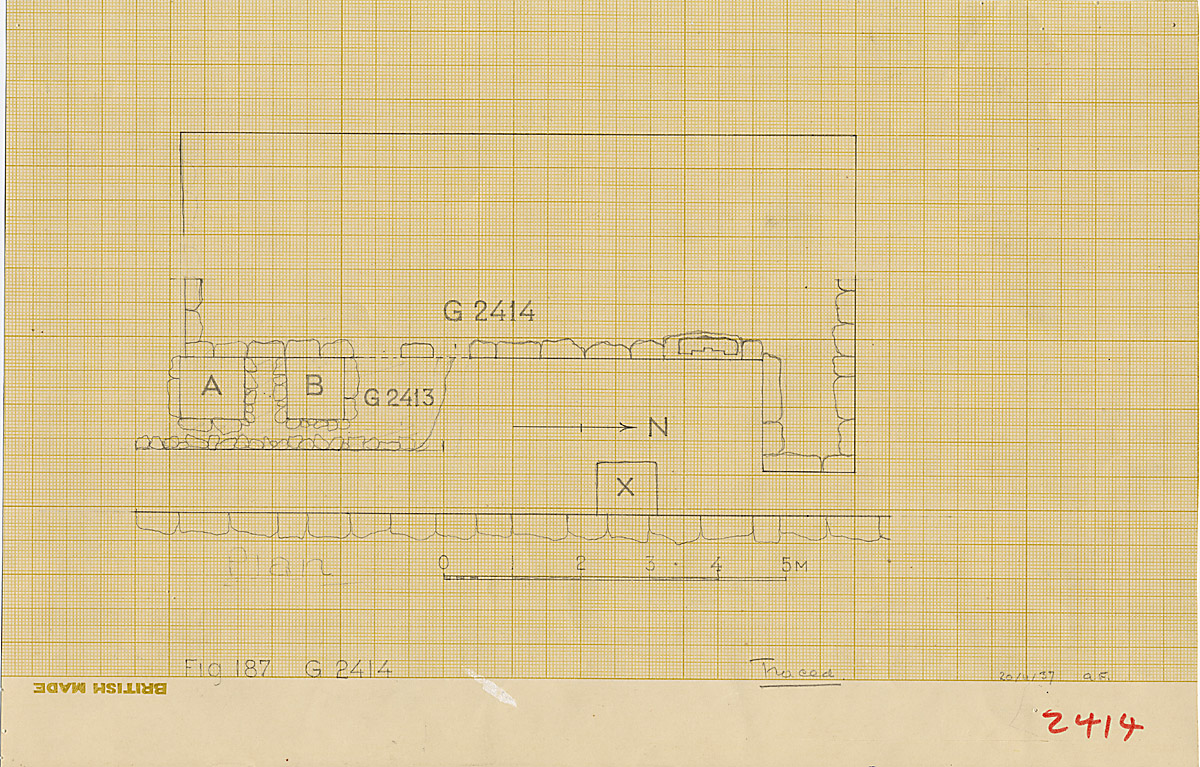 Maps and plans: Plan of G 2413 and G 2414