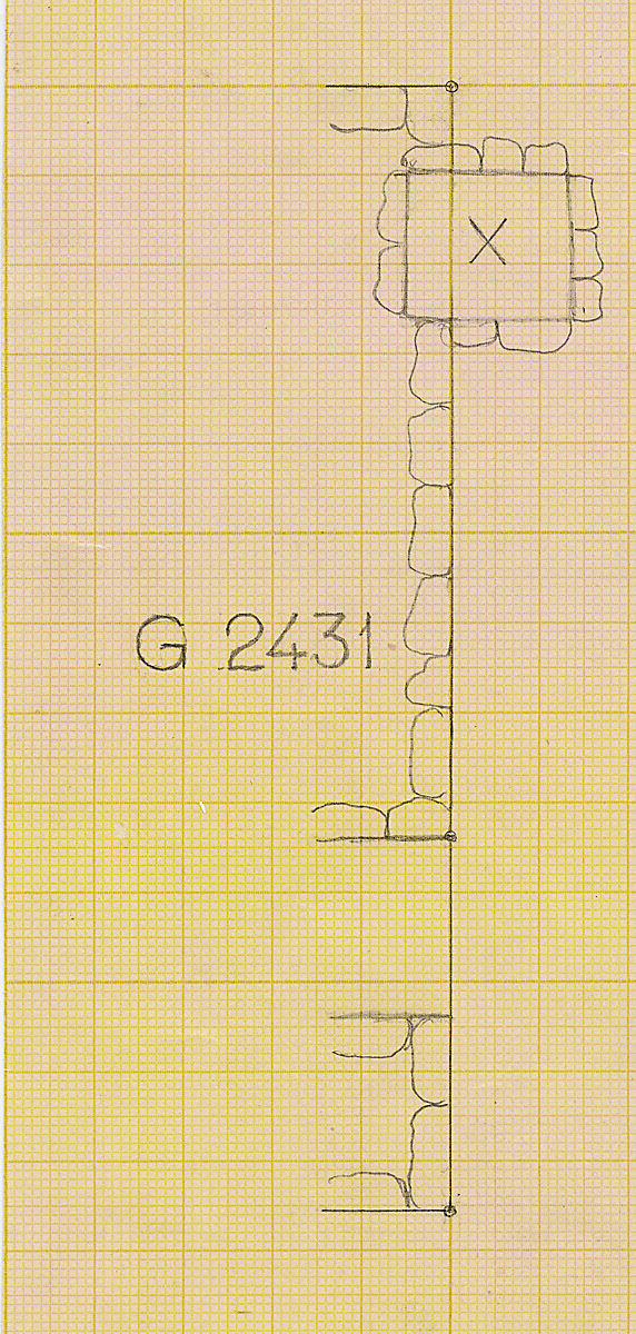 Maps and plans: Partial plan of G 2431, with position of Shaft X