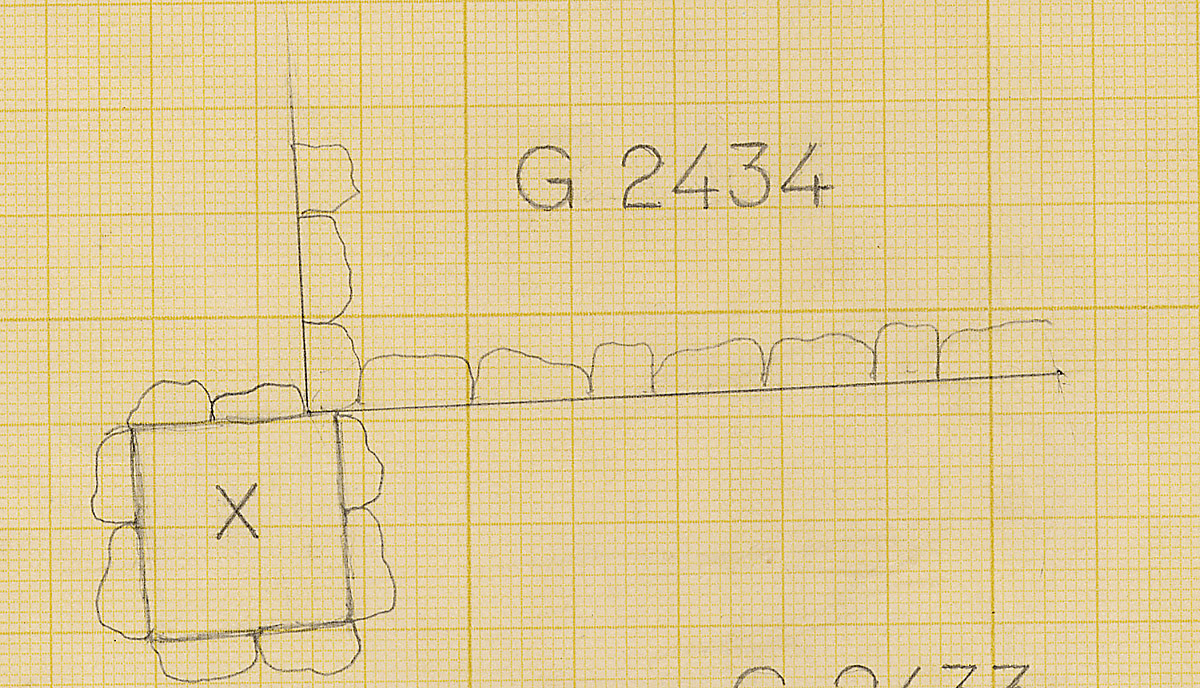 Maps and plans: Plan of G 2434, with postion of Shaft X