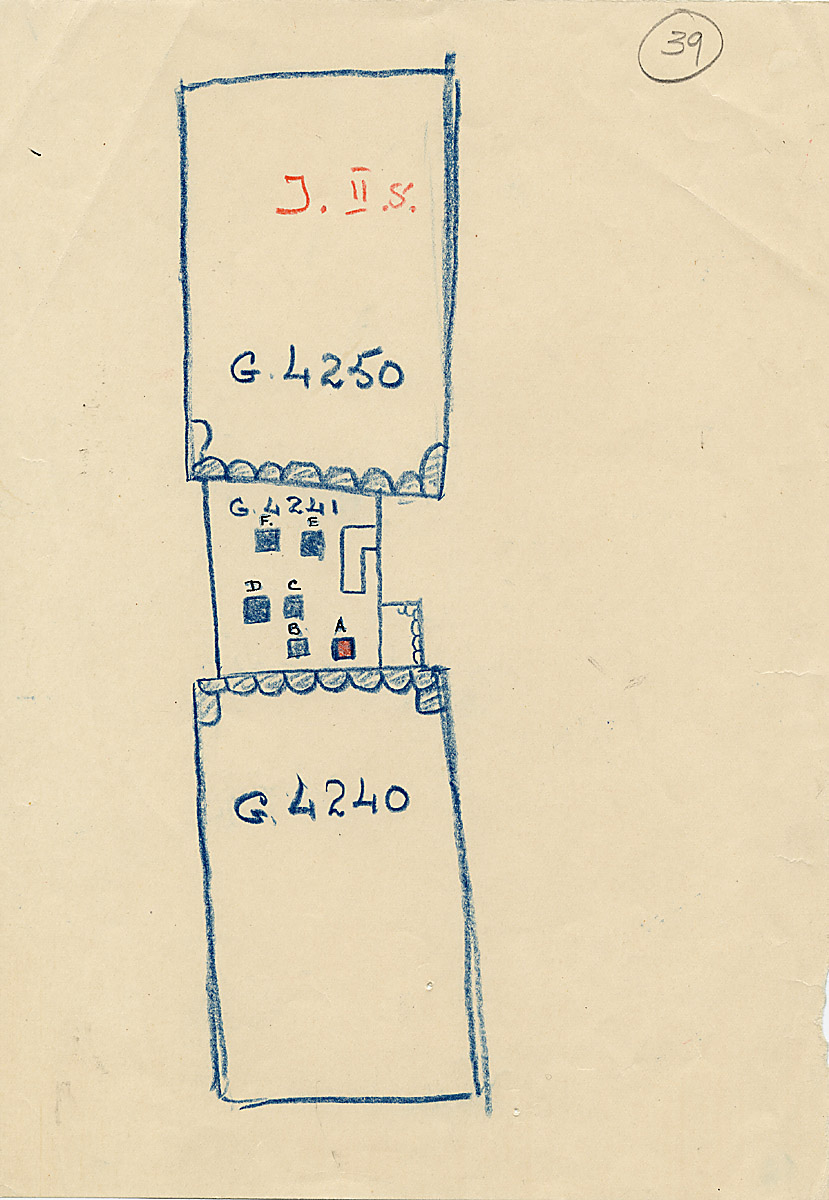 Maps and plans: Sketch plan of G 4241, with position of G 4240 and G 4250