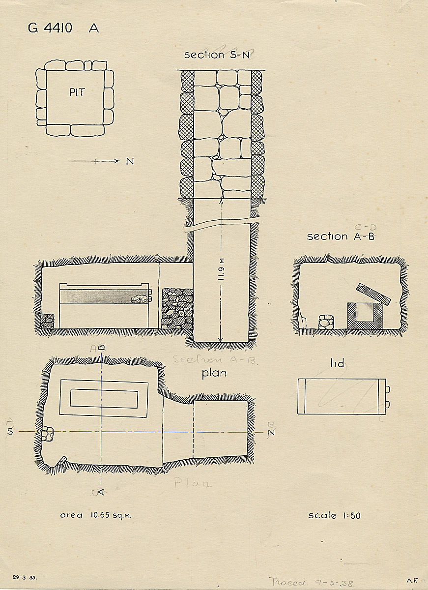 Maps and plans: G 4410, Shaft A
