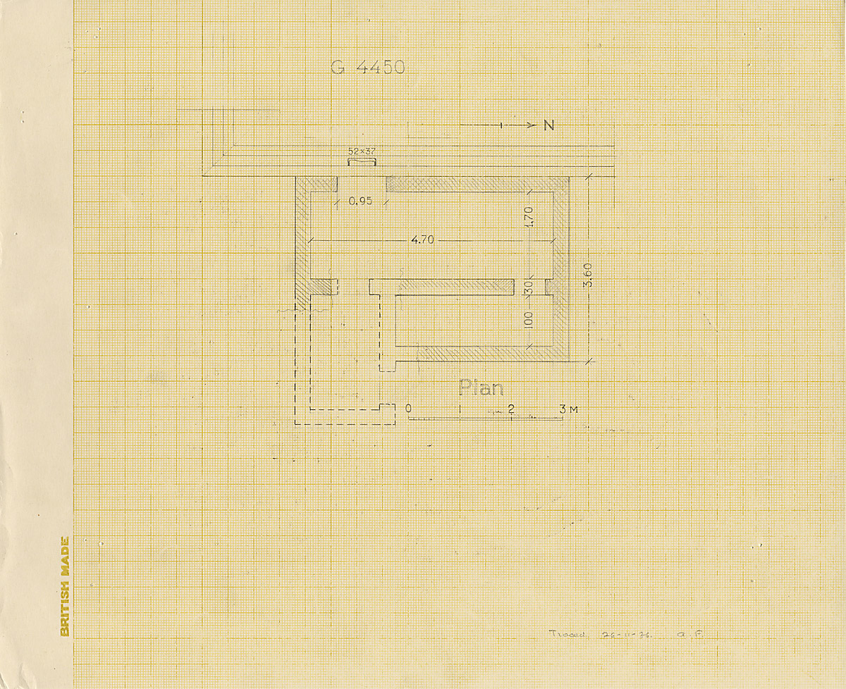 Maps and plans: G 4450, Plan of chapel