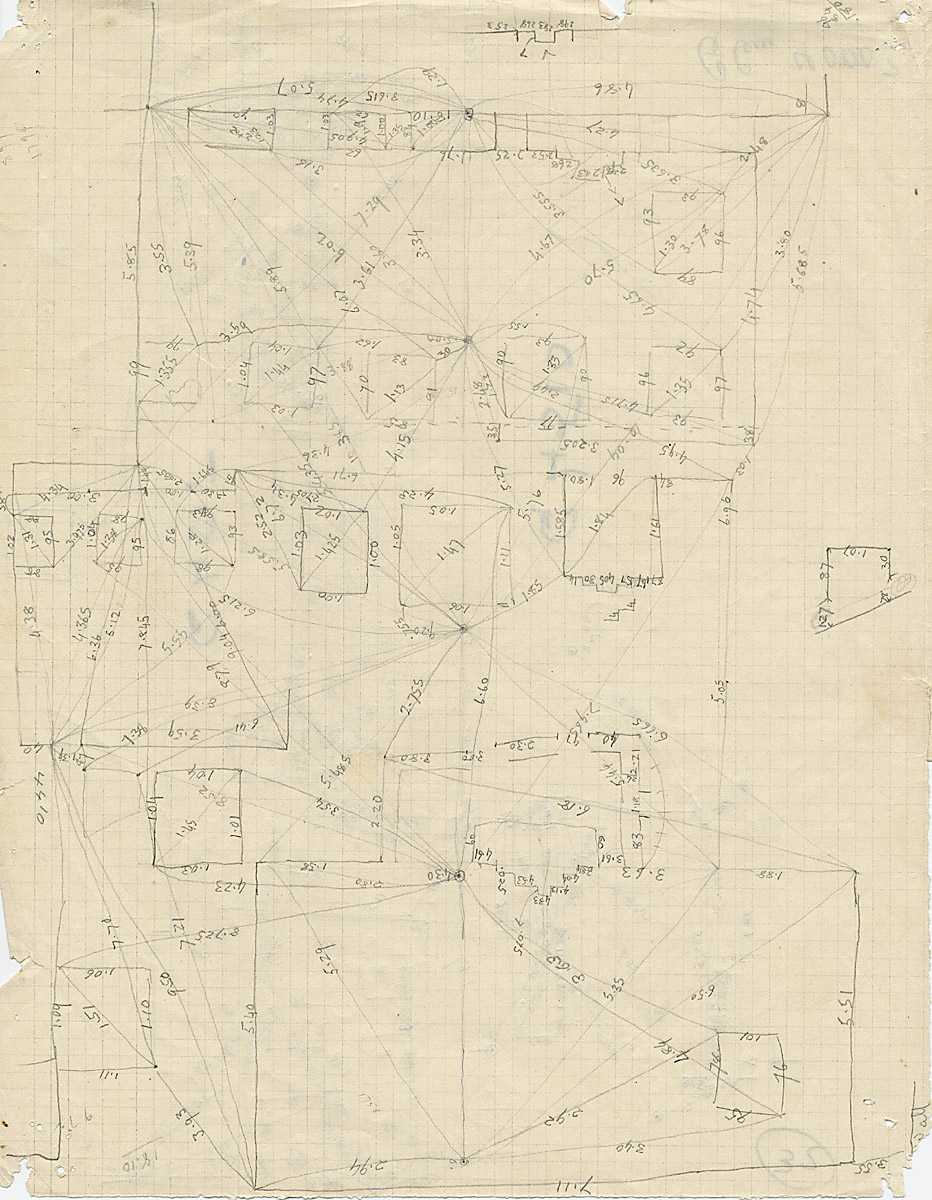 Maps and plans: G 4510 and G 4515, Triangulation notes