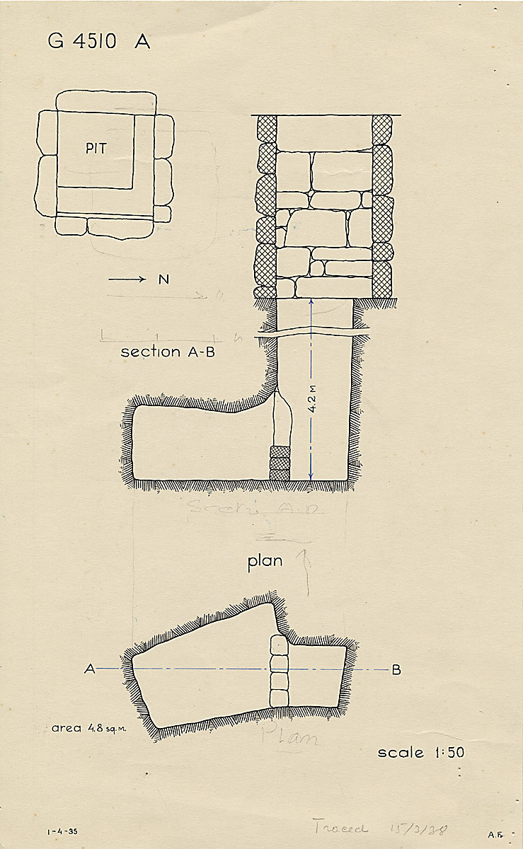 Maps and plans: G 4510, Shaft A