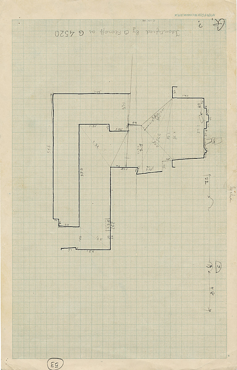 Maps and plans: G 4520, Plan of chapel