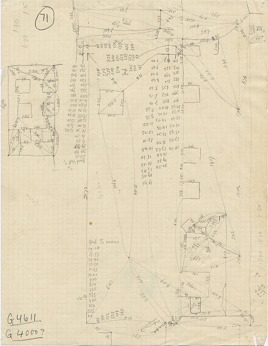 Maps and plans: G 4611, Triangulation notes