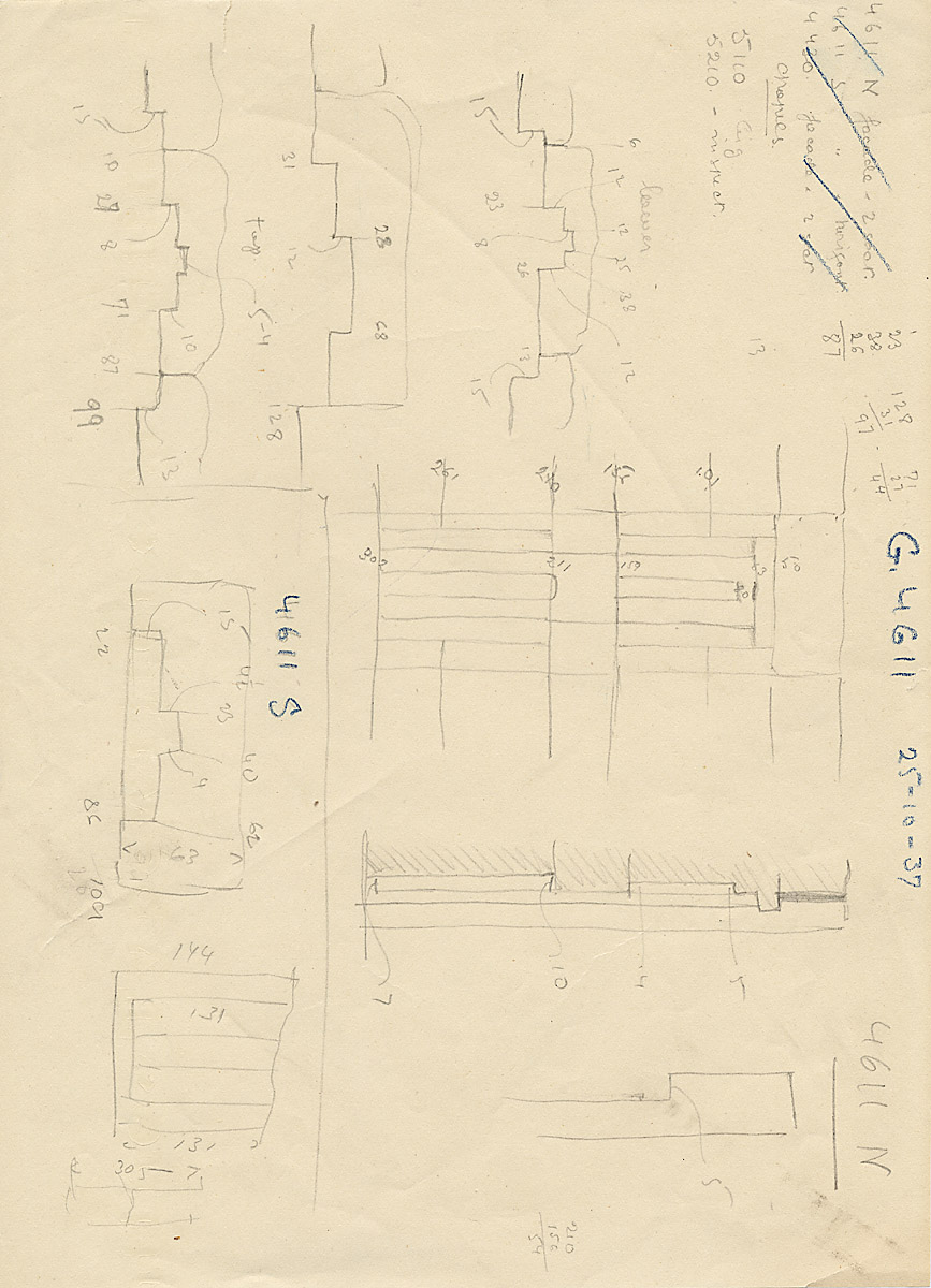 Maps and plans: G 4611, Plan and section of niches