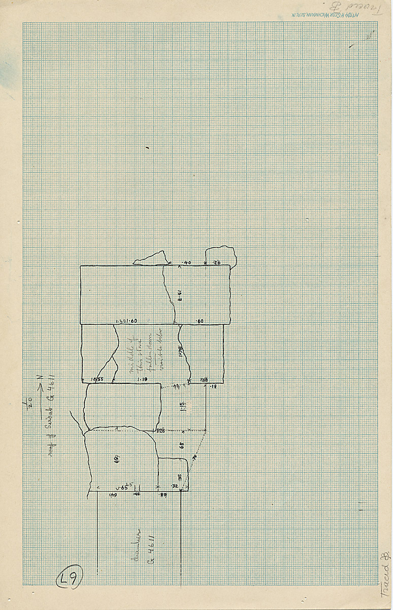 Maps and plans: G 4611, Roof of serdab