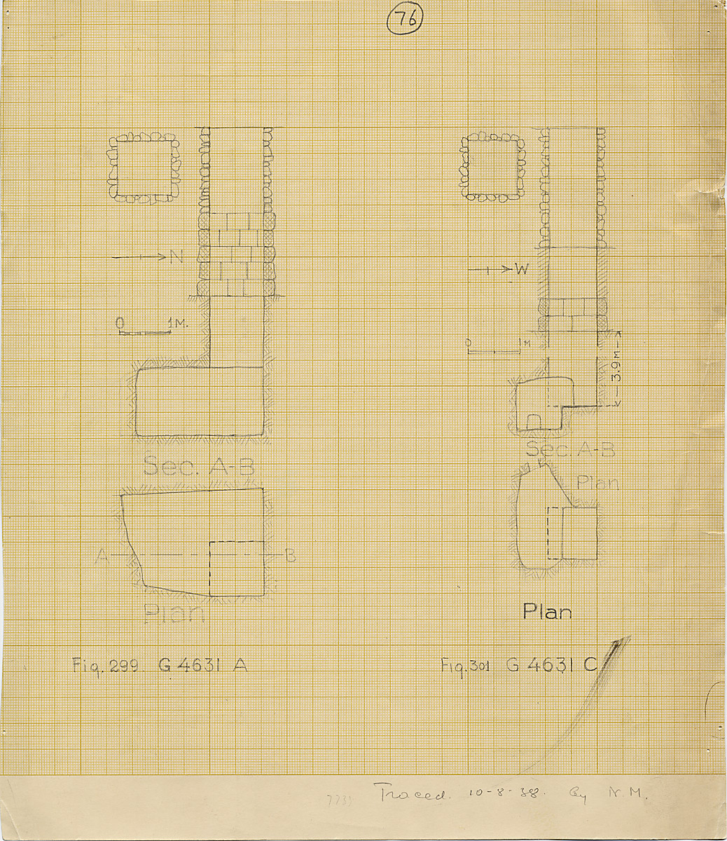 Maps and plans: G 4631, Shaft A and C