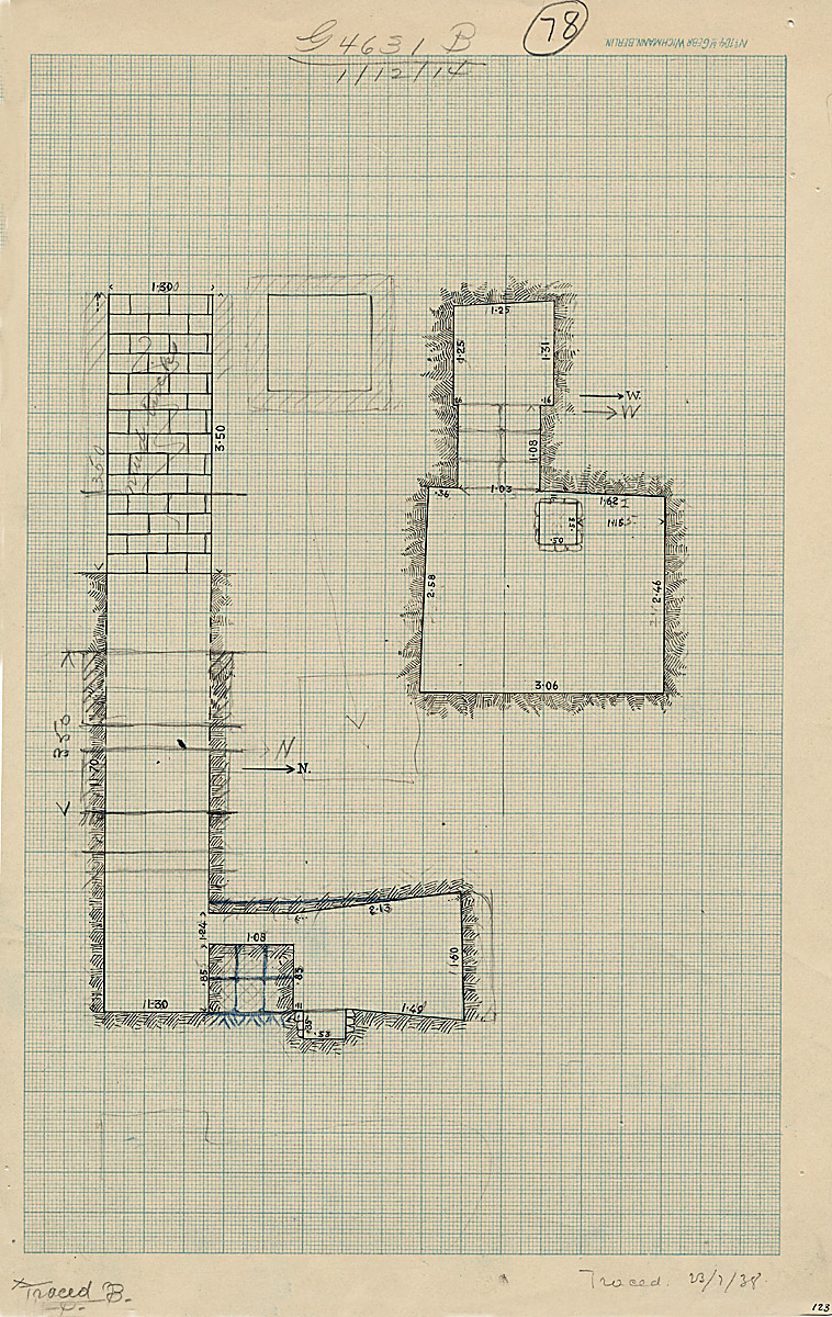 Maps and plans: G 4631, Shaft B