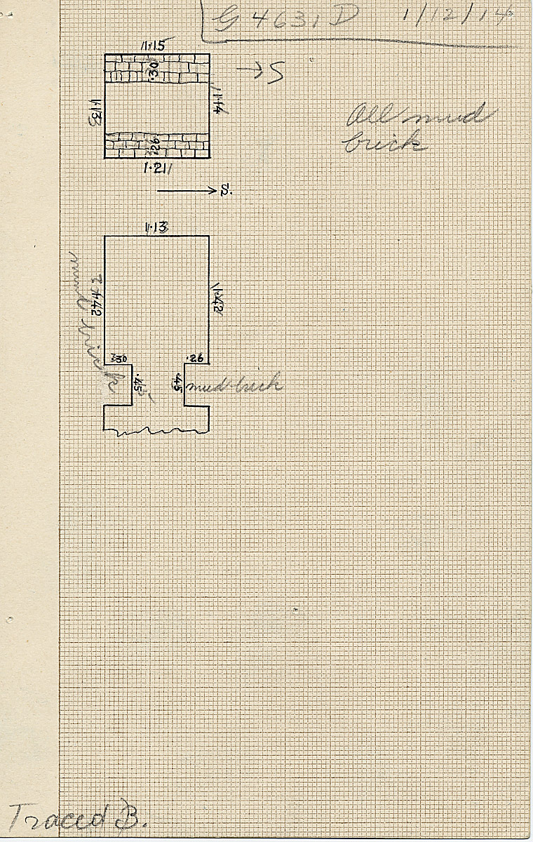 Maps and plans: G 4631, Shaft D (I)